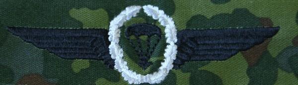 FB Fallschirmspringerabzeichen, flecktarn - silber