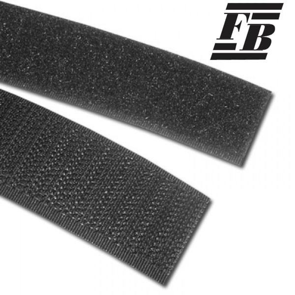 FB Klettband 25 mm schwarz - Haken