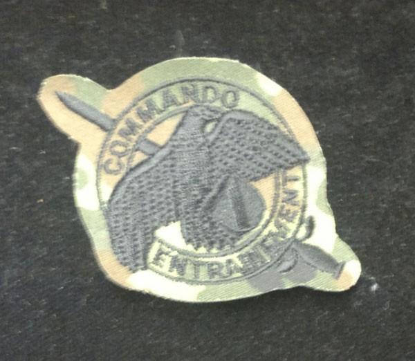 FB Abzeichen Commando Entrainement, flecktarn - schwarz