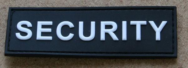 FB SECURITY Abzeichen, Gummiabzeichen, schwarz-weiß