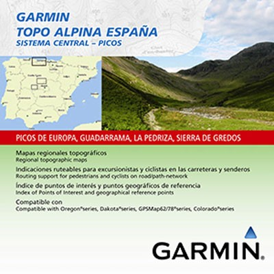 Topo Alpina Espana Sistema Central microSD/SD