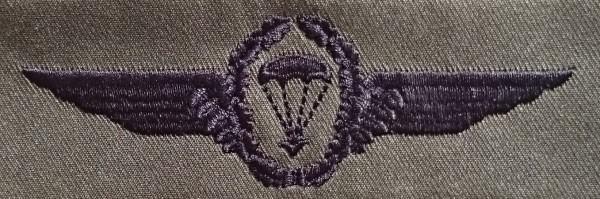 FB Fallschirmspringerabzeichen, oliv - schwarz