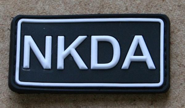 FB NKDA Abzeichen, Gummiabzeichen, schwarz-weiß