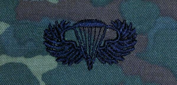 FB Fallschirmspringerabzeichen US Army, flecktarn - schwarz