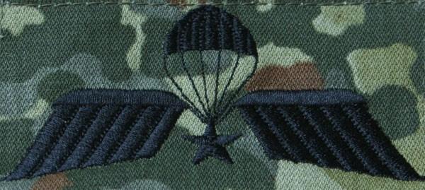 FB Fallschirmspringerabzeichen Niederlande, flecktarn - schwarz