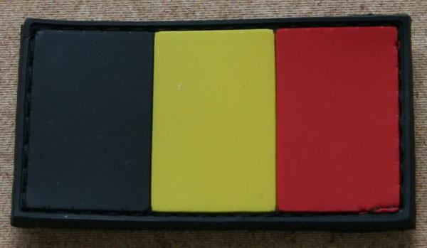 FB Belgien, bunt, Gummiabzeichen