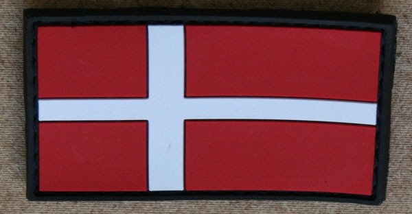 FB Dänemark, bunt, Gummiabzeichen