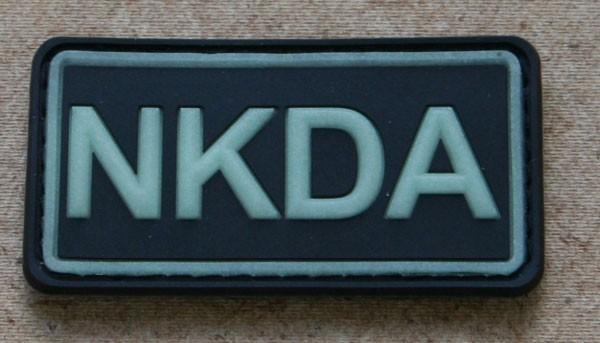 FB NKDA Abzeichen, Gummiabzeichen, schwarz-glow