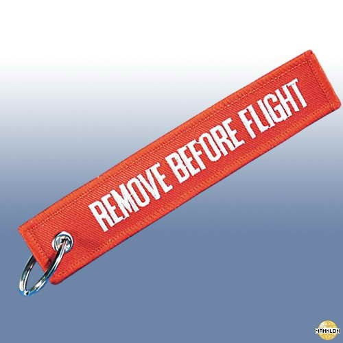 """MMB Schlüsselanhänger \""""Remove before Flight\"""""""