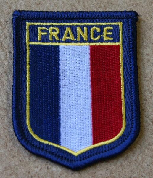 FB Frankreich Wappen, bunt gestickt