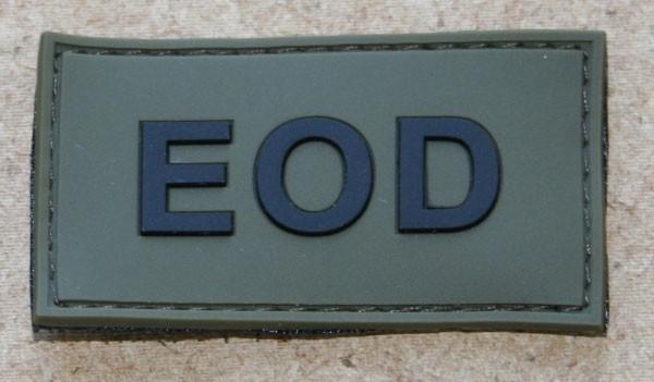 FB EOD Abzeichen, Gummiabzeichen, oliv-schwarz